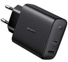 Сетевое зарядное устройство Aukey Swift Mix PD 30W USB-A/C PA-F3 (Black)