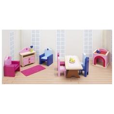 Игрушки деревянные, аксессуары для кукольной гостиной (дворец) GOKI GOK_51775