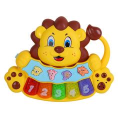 Пианино обучающее ТМ Smart Baby Львенок цвет желтый, 36 звуков, мелодий, стихов JB0333405