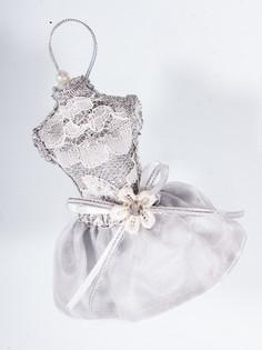 Елочная игрушка Подарки и сувениры платье, 14 см