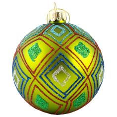 Шар на ель Подарки и сувениры зеленый 8 см