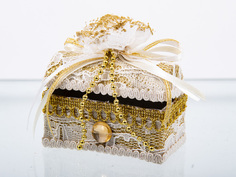 Елочная игрушка Подарки и сувениры сундук, 8 см