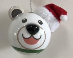 Елочная игрушка Подарки и сувениры медведь, 8 см