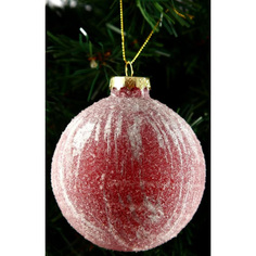 Шар на ель Подарки и сувениры стеклянный розовый 8 см