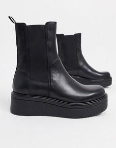 Черные кожаные ботинки челси на платформе Vagabond-Черный