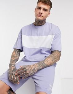 Пижама с шортами и вставками ASOS Dark Future-Фиолетовый