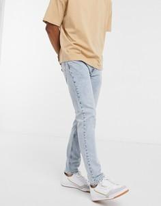 Голубые узкие джинсы с 5 карманами Levis Skateboarding 512-Синий