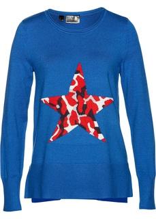 Пуловер с жаккардовым узором Bonprix