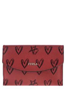 Визитница женскяя Furla 1046913 красная