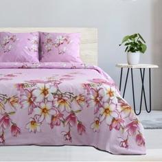 Комплект постельного белья ЭТЕЛЬ Розовая магнолия евро