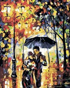 """Картина по номерам Живопись по Номерам """"Свидание в парке"""", 40x50"""