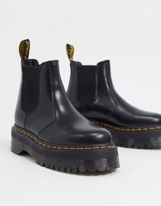 Черные ботинки челси на платформе Dr Martens-Черный