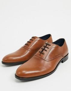 Светло-коричневые кожаные оксфордские туфли Burton Menswear-Светло-коричневый