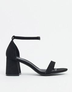 Черные туфли на блочном каблуке Missguided-Черный