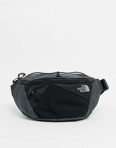 Черная маленькая сумка-кошелек на пояс The North Face-Серый