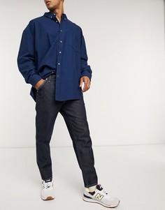 Синие джинсы с контрастными строчками ASOS DESIGN-Синий