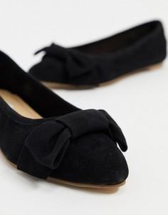 Черные кожаные туфли на плоской подошве Steve Madden-Черный