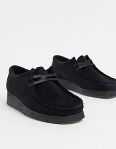 Черные замшевые туфли на плоской подошвеClarks Originals-Черный