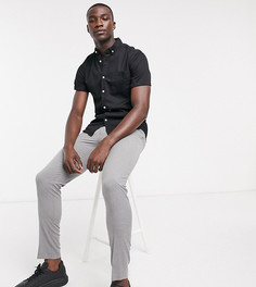 Черная джинсовая рубашка зауженного кроя из органического хлопка ASOS DESIGN Tall-Черный