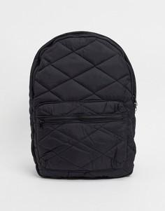 Черный стеганый рюкзак Pieces
