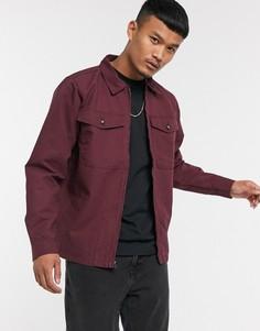 Бордовая куртка Vans-Красный