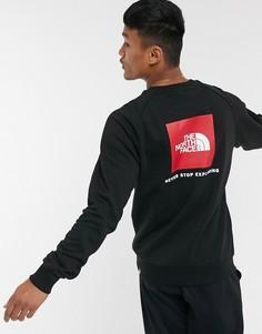 Черный свитшот с круглым вырезом и рукавами реглан The North Face