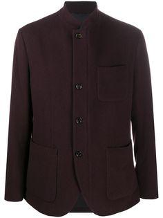 Eleventy пиджак с воротником-стойкой