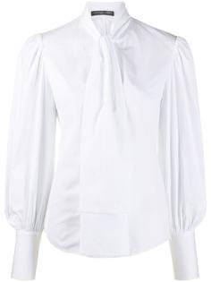 Alexander McQueen блузка с завязками на воротнике