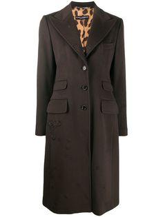 Dolce & Gabbana кашемировое пальто средней длины с вышивкой