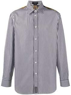 Versace полосатая рубашка с принтом Barocco Acanthus