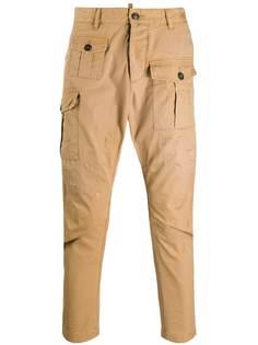 Dsquared2 зауженные брюки карго