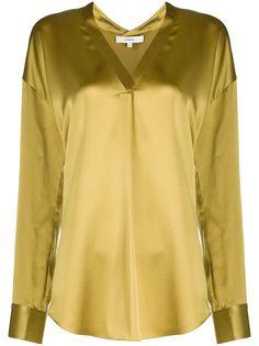 Vince блузка с V-образным вырезом