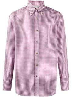 Brunello Cucinelli клетчатая рубашка с длинными рукавами