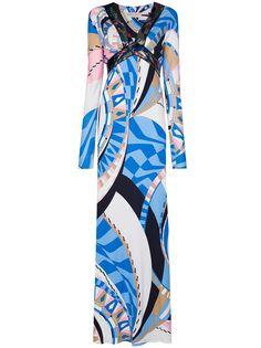 Emilio Pucci вечернее платье Wally с принтом и пайетками