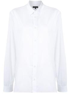 Ann Demeulemeester поплиновая рубашка с заостренным воротником