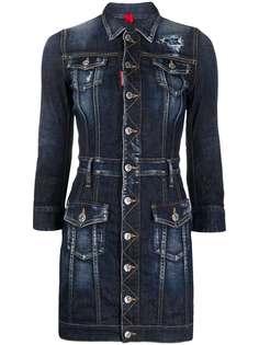 Dsquared2 короткое джинсовое платье