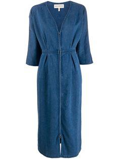 Mara Hoffman джинсовое платье с глубоким V-образным вырезом