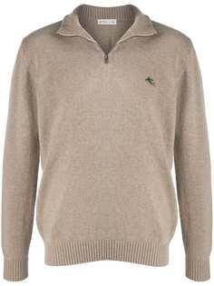 Etro пуловер с вышитым логотипом