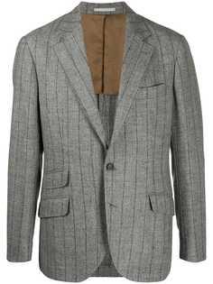 Brunello Cucinelli однобортный пиджак в полоску