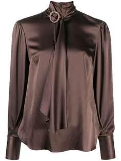 Brunello Cucinelli атласная блузка с шарфом