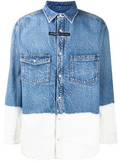 Givenchy джинсовая рубашка в стиле колор-блок