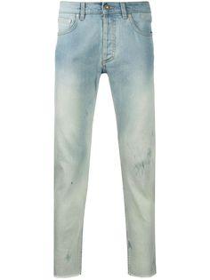 Givenchy джинсы с эффектом потертости и необработанными краями