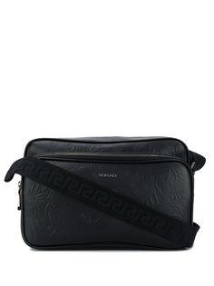 Versace сумка-мессенджер на молнии с тиснением