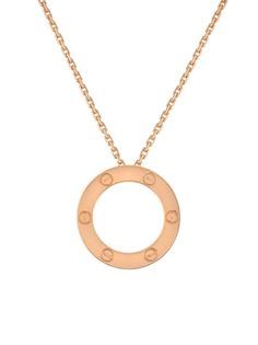 Cartier золотое колье Love с подвеской