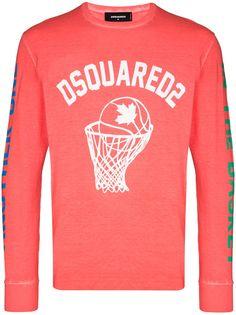Dsquared2 футболка с длинными рукавами и логотипом