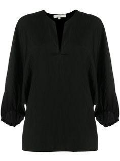 Vince блузка с разрезом и жатым эффектом
