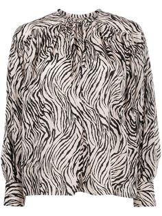 Isabel Marant блузка с зебровым принтом