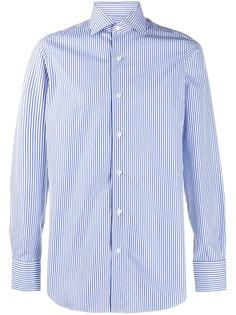 Finamore 1925 Napoli полосатая рубашка с длинными рукавами