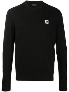 Diesel пуловер с нашивкой-логотипом