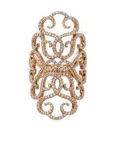 INBAR кольцо Lace из розового золота с бриллиантами